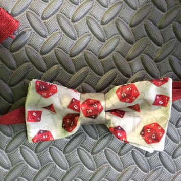 The Game Changer Bow Tie- Dungeons and Dragons- D & D- fantasy- RPG- D20- Dice- nerdy gifts- geeky bow ties- gifts for gamers- roll playing