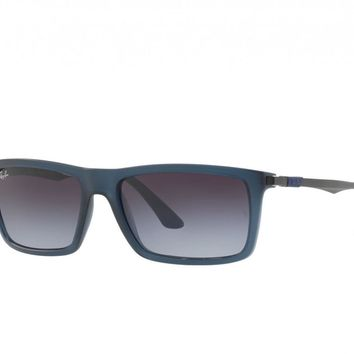 Ray-Ban Mens RB4214 6297/8G Blue Gunmetal With Grey Gradient Lens Sunglasses