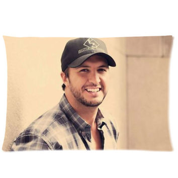 "Custom Luke Bryan Pillowcase Standard Size 20""x30"""
