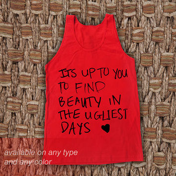 It is up to You Casual Wear Sporty Cool Tank top Funny Tank Cute Direct to garment
