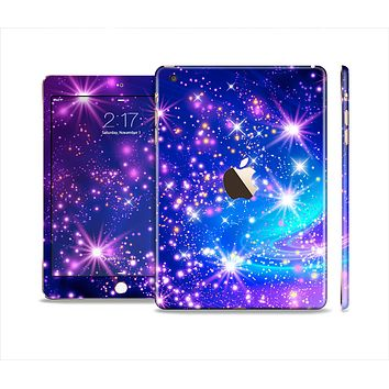 The Glowing Pink & Blue Starry Orbit Full Body Skin Set for the Apple iPad Mini 3