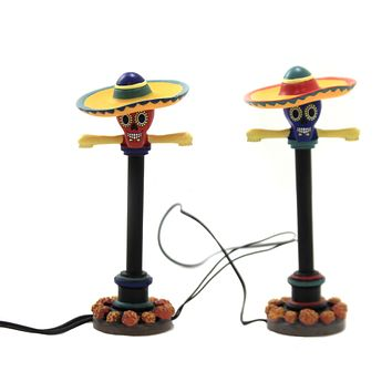 Department 56 Accessory DAY OF THE DEAD STREET LIGHTS Halloween 6003232