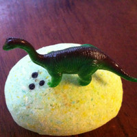 Dinosaur Egg Bath Bomb for the tub with toy Dino inside