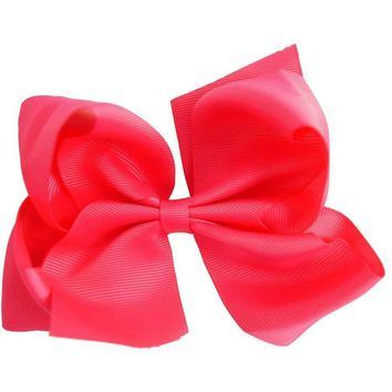 Grosgrain Boutique Hairbow, Hot Pink