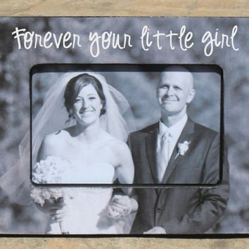Personalized Father of the Bride Picture Frame, Custom Wedding Picture Frame, Parent Gift Photo Frame