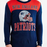 Junk Food NFL New England Patriots Crew Neck Sweater- Grey