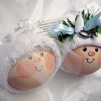 Wedding Ornaments Bride and Groom Christmas Set