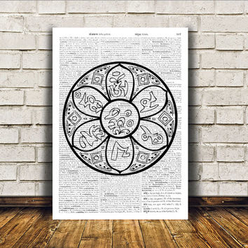 Sacred Geometry poster Mandala art Wall decor New Age print RTA331