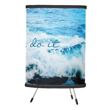 Hawaii turquoise ocean waves photo tripod lamp