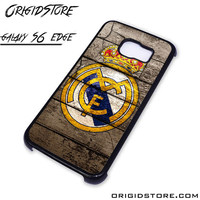Real Madrid Wooden Case For Samsung Galaxy S6 Edge Case