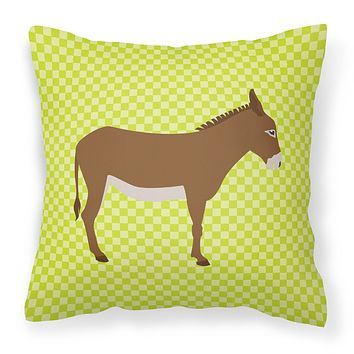 Cotentin Donkey Green Fabric Decorative Pillow BB7675PW1818