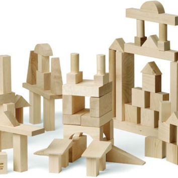 Advanced Builder: 78 Piece Wood Block Set