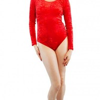 Crushed Velvet Low Back Leotard - DCUK - Dance Clothes UK
