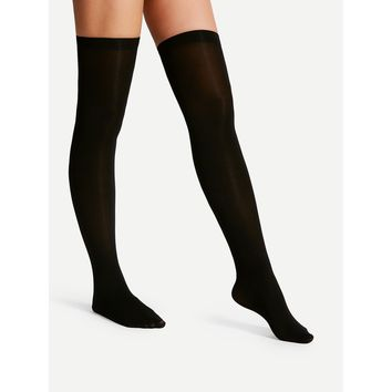 Over The Knee Plain Socks