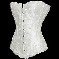 Curve Embroidery Accent Satin Corset