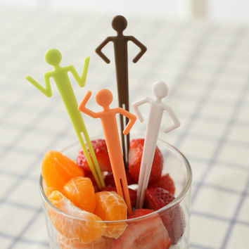 Innovative Lovely Fruit Fork Environmental Kitchen Fruit Fork Set [4915324932]