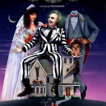 Beetlejuice (French) 27x40 Movie Poster (1988)