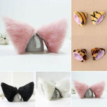 Night Party Club Ball Wearing Deacorate Cat Fox Fur Ear Pattern Hair Clip Bell