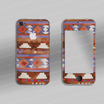 Iphone 4 sticker wrap - tribalicious - iphone 4 cover