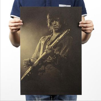 [H290] The Rolling Stones guitarist / retro rock posters / Kraft vintage poster / piano bar decorative painting 51x35.5cm