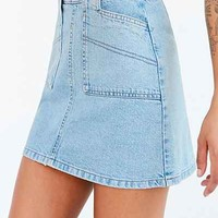 BDG Utility A-Line Denim Mini Skirt - Urban Outfitters