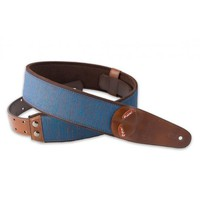 Right On! Boxeo Blue Vegan Guitar Strap