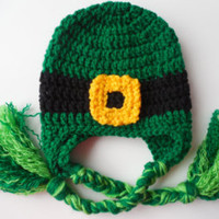 Leprechaun Hat - St. Patrick's Day Baby to Adult Sizes  - Lucky Irish Hat - Handmade Crochet - Ready to Ship