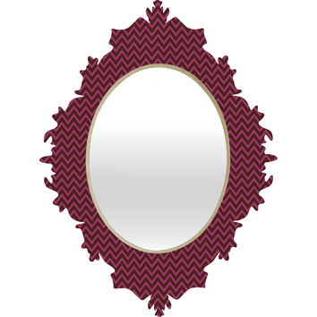 Caroline Okun Mulberry Chevron Baroque Mirror