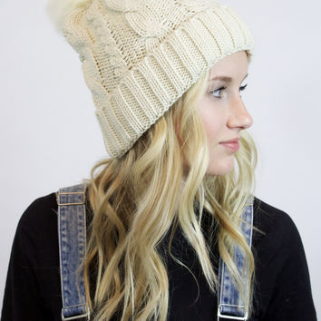 Whole Lotta Love Fur Beanie (Ivory)