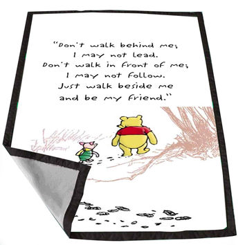 Disney Winnie The Pooh Quotes 4dcaef19-bada-41fe-8987-4e7c109a1ae8 for Kids Blanket, Fleece Blanket Cute and Awesome Blanket for your bedding, Blanket fleece *02*