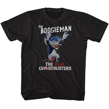 The Real Ghostbusters Kids T-Shirt The Boogieman Black Tee