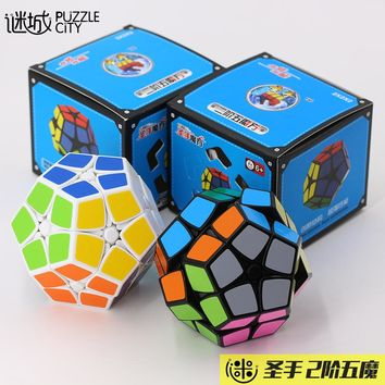 Shengshou Cube Megaminx Magic Cube Dodecahedron Blocks  Puzzle Speed Cubes 12-side Learning&educational Toys For Children Gifts