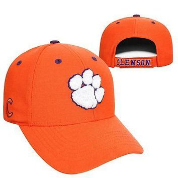 Licensed Clemson Tigers Official NCAA Adjustable Triple Threat Hat Cap Top of the World KO_19_1