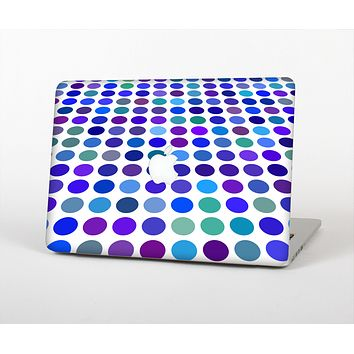 The Blue and Purple Strayed Polkadots Skin for the Apple MacBook Air 13""
