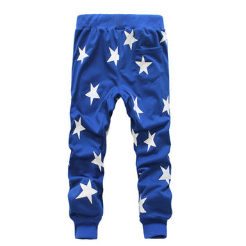2016 Mens Star Printing Hip Hop Sweat Pants Harem Dance Jogger Baggy Trousers