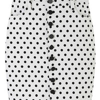 ROMWE Polka Dots Print High-waist Bodycon Skirt