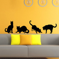 Cat Wall Decal Grooming Salon Decals Vinyl Stickers Animal Petshop Decor Kids Room Nursery Bedroom Wall Art Interior Design Home Decor Z810