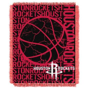 "Houston Rockets NBA Triple Woven Jacquard Throw (Double Play Series) (48x60"")"""