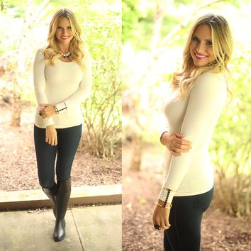 Seamless Perfection Top in Ivory - M. Rena