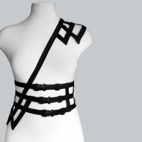 Body harness asymmetric body cage waistband adjustable size - H2
