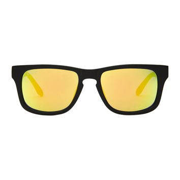 RILEY - BLACK FRAME - GOLD MIRROR LENS