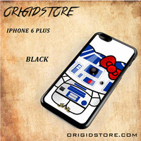 R2D2 Star Wars Hello Kitty Black White Snap On 3D For Iphone 6 Plus Case