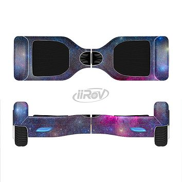 The Pink & Blue Galaxy Full-Body Skin Set for the Smart Drifting SuperCharged iiRov HoverBoard