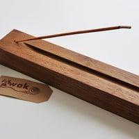 Rustic Wood Incense Burner - Decorative Home Decor Incense Holder - AWAK
