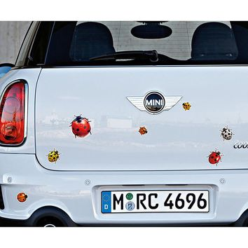 Ladybug Car Stickers and Decals Cute Butterfly Auto Body Scratch Covers Stickers Funny Exterior Decoration Protection