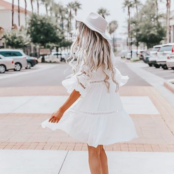 Simply lovely White Flowy Dress
