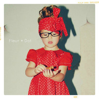 Girls Dress: Red Sailor Dress with Pleated Collar from the Fleur and Dot Autumn Winter Collection
