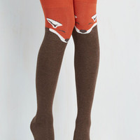 Statement Fur the Win Thigh Highs in Fox Size OS by ModCloth
