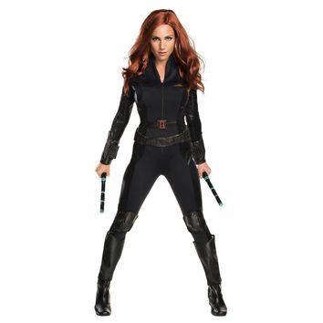 Rubies Secret Wishes Womens Captain America Civil War Widow Costume Black Large