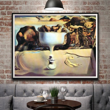 Classic Abstract Painting Salvador Dali Surreal Artwork Vintage Art Silk Poster Home Decor 12x16 18x24 24X32 Inch Free Shipping